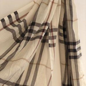 Burberry lightweight check wool scarf